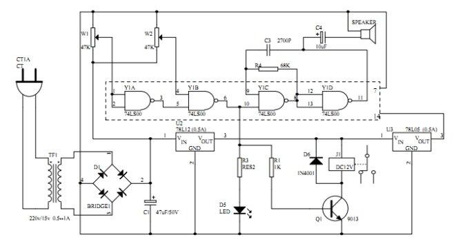 电路图: 输入电源电压正常时