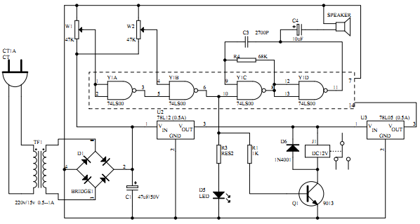 喇叭控制电路图