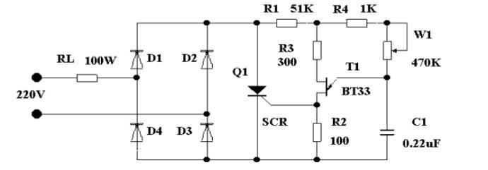 从图中可知,二极管 d1—d4 组成桥式整流电路,双基极二极管 t1 构成